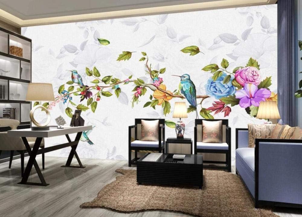 Wallpaper Sticker 3D Mural Hand Flower Finally resale Outstanding start Drawn Modern Bi