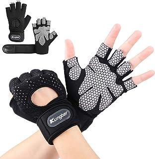 Kungber Fitnesshandschoenen trainingshandschoenen sporthandschoenen voor krachttraining, gewichtheffen, training, fietsen,...