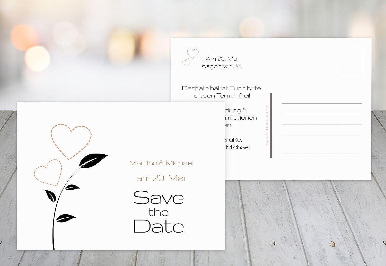 Kartenparadies Hochzeitskarte Save-the-Date HerzBlaume, hochwertige Save the Date Karte zur Hochzeit   50 Karten - (Format  148x105 mm) Farbe  flamingoOrangerot B01NBWMJFI | Gewinnen Sie das Lob der Kunden