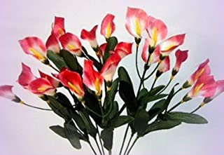 Inna-Wholesale Art Crafts New 27 Calla Lilies Mauve Silk Bouquet Centerpieces Artificial Decorating Flowers - Perfect for Any Wedding, Special Occasion or Home Office D?cor