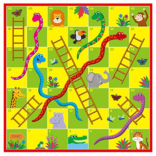 Galt Toys Giant Snakes and Ladders Puzzle, Jigsaw and Board Game for Children