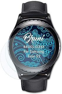 Bruni Skärmskydd är kompatibel med Samsung Gear S2 Film, kristallklart Skyddsfilm (2X)
