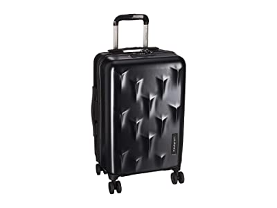 Hedgren 20 Carve Small Carry-On Spinner (Black) Carry on Luggage