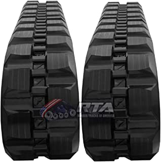 Two Rubber Tracks for Bobcat T250 T300 T320 T740 T750 T770 450X86X55 Staggard Block Tread Pattern