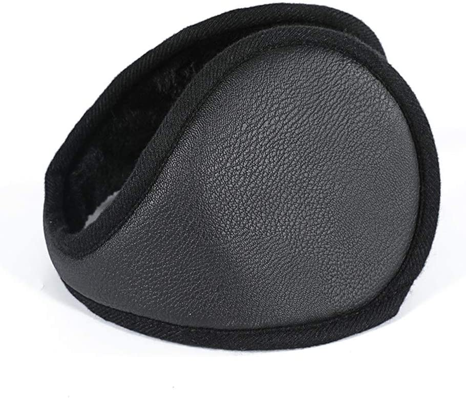 ZYXLN-Earmuffs,Foldable Adjustable Earmuffs Ear Protection Winter Cold Weather Ear Muffs Earmuffs for Men Outdoor Protective Earmuffs Warm Earmuffs (Color : Black)