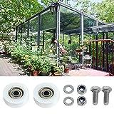 Goliraya Ersatzsätze für Gewächshaus-Türräder 30-mm-Türrollen und -Schrauben Standardgröße Lagerteile Türradzubehör