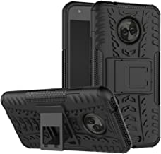 Moto X4 Case, YMH Dual Layer with Kickstand Shock-Absorption Rugged Armor Military Grade Drop Tested Cover Full-Body Protective Heavy Duty Case Combo PC + TPU Back for Motorola Moto X4 2017 (Black)
