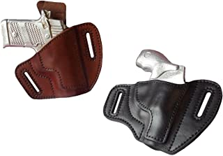 J&J Custom Fit Ruger LCR .38 Special W/LASERMAX Laser Outside The Waistband Pancake Belt Carry Formed Premium Leather Holster