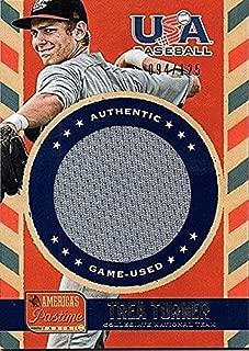 2013 Panini America's Pastime USA Baseball Trea Turner RC Jersey 94/125