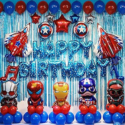 shengping Avengers Thema Party Dekoration Superhelden Geburtstag Anzug Spider Man Captain America Ballon Anzug