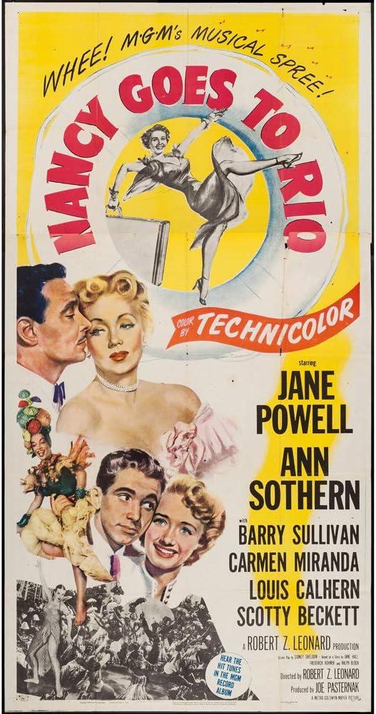 Nancy Goes To Rio 1950 Max 87% OFF Movie Three Poster Sheet 41x81 Max 81% OFF J