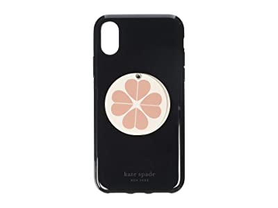 Kate Spade New York Flower Swivel Mirror Phone Case for iPhone XS (Black Multi) Cell Phone Case
