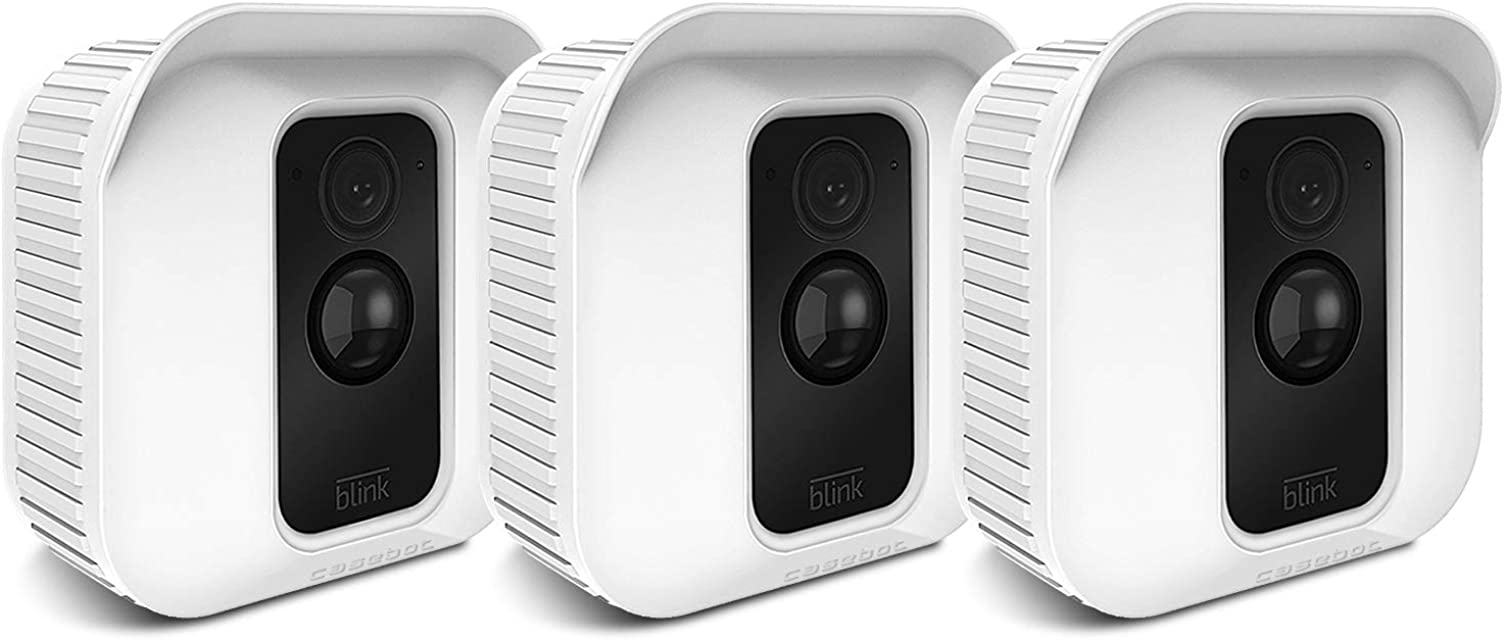CASEBOT Funda de Silicona para Webcam Blink XT2 / Blink XT - [3 Piezas] Cubierta Protectora Impermeable para Blink XT2/XT Sistema de Cámaras de Seguridad Blanco