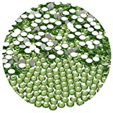 NCB 576pcs Glue Fix Flatback Crystals Rhinestones Round Glass Diamonds Charms Gems Stones Beads 3D for Nails Art Craft Jewels Accessories Phone Shoes (Peridot SS30 6.5mm 576pcs)