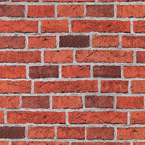 Embossed Brick Brick Effect Wallpaper In Red Full Roll Amazonco