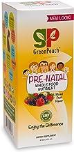GreenPeach Liquid Prenatal, 100% Organic Ingredients, Best Prenatal Morning Pep with 800mcg Folic Acid, Vitamin A, B6 for ...