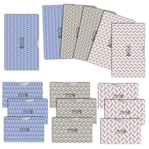 LOE カードケース RFID 磁気 スキミング 防止 クレカ & 通帳 サイズ (ノルディック柄 3色セット)