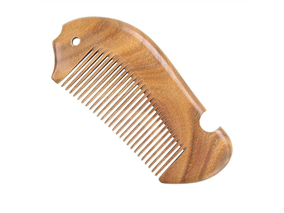 弾薬ゲインセイ読みやすい耐久性 カーリーヘアデニグニングサンダルウッドの櫛のためのヘアコームいいえ静的な魚の形のコームの増粘タイプサンダルウッドの香り