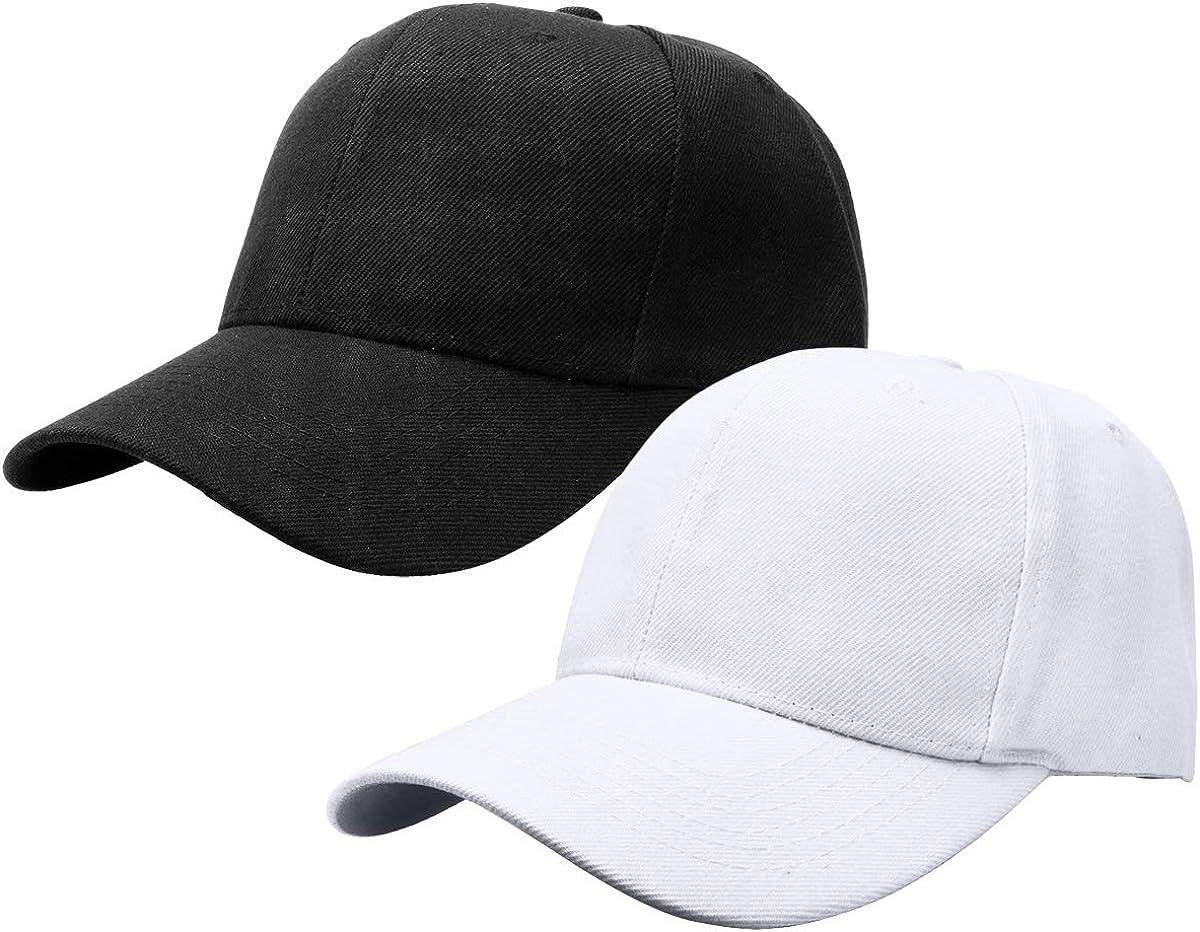 2pcs Baseball Cap for Men Women Adjustable Size for Outdoor Activities