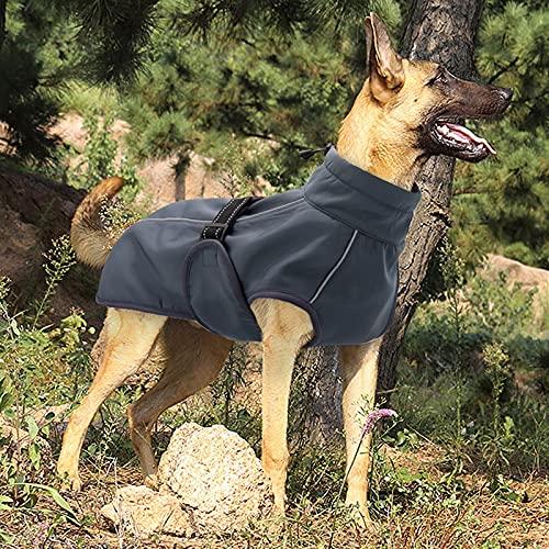 DMDIANZI Ropa para Perros,Chaleco Impermeable para Perros,Ropa Abrigada y Acolchada para Mascotas,Ropa de Invierno,Chaqueta,Abrigo,Perros Grandes,Traje de Labrador,con Cuerda de Nailon Reflectante