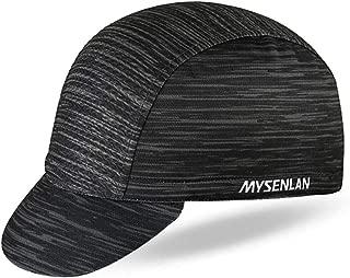 Mysenlan Men's Outdoors Sports Cycling Cap Bike Skull Breathable Sun Caps Riding Hat for Men Black, Medium