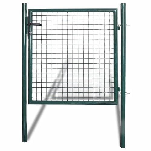 vidaXL Portail pour Clôture Acier Laqué Portail Sécurité Porte Jardin Terrasse
