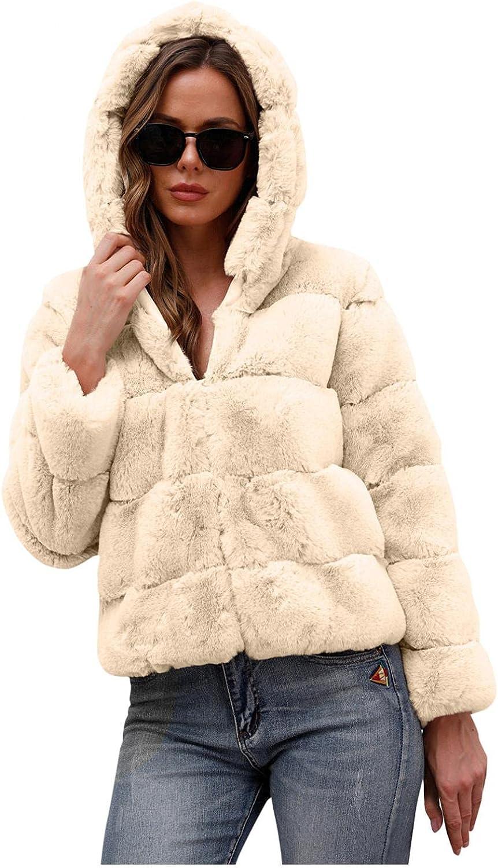 Misaky Women Plus Size Outerwear Faux-Fur Gilet Long Sleeve Wais