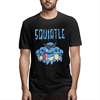 Poke Squirtle Swag Mens Tee Casual Short Sleeve T-Shirt Black