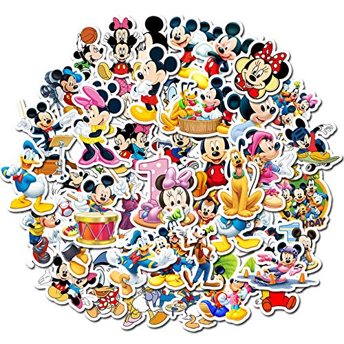SHIHE Cartoon Cartoon Disney Mickey Mouse Sticker Graffiti Laptop Skateboard Luggage Guitar Sticker 50Pcs
