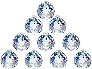 JIHUI Crystal Ball Prism 40mm/1.57 Inch Decorative Ball for Chandelier Window Suncatcher 10Pack Rainbow Maker