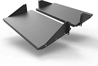 Jingchengmei 2U New Disassembled Cantilever Server Shelf Rack Mount 19-Inch 2 Piece Set Center Weighted Mounting (2U10.5S)