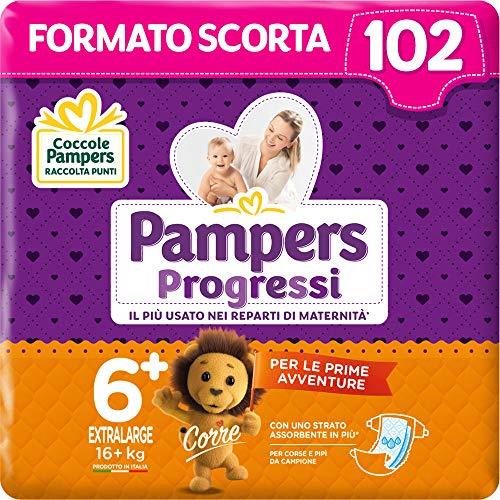 Pampers Progressi, Babywindeln Taglia 6+ (102 Unità)