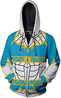 starfun Breath of The Wild Link Zip up Hoodie Sweatshirt Adult Hyrule Warriors Costume Jacket Unisex