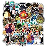 PRXD 50Pcs Sticker Pack, Graffiti Sticker Decals Vinyls for Laptop, Kids, Teens, Water Bottles, Skateboard, Baggage, Motorcycle, DIY Party Supply Patches Decal Decal Decal (Hayao Miyazaki)