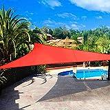 Shade&Beyond Sun Shade Sail Triangle Canopy 20' x 20' x 20' Sail Shade Scarlet Sun Shades for Patios