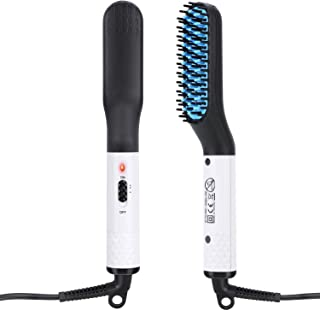 Beard Straightener for men, Multifunctional Hair Styler Electric Hot Comb and Beard Straightening Brush Hair Straightening Comb with Dual Voltage 110-240V Great for Travel & Mens Stocking Stuffers