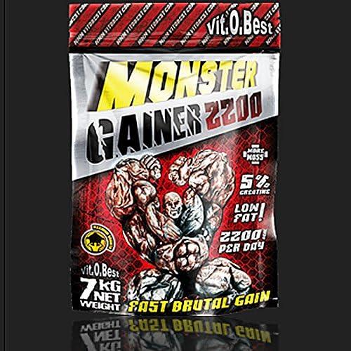 VitoBest - Monster Gainer 2200 - 3 kg - Fresa: Amazon.es ...