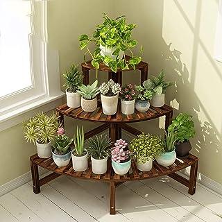 Flower Shelf, Solid Wood Shelf, Corner Living Room Balcony Pot Stand, Strong Household Load-Bearing, Long Life, Easy to Ca...
