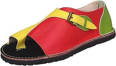 BBZUI Women Roman Style Soft Comfortable Leisure Flat Sandal Buckle Flat Beach Sandals Fashion 2019(35-43