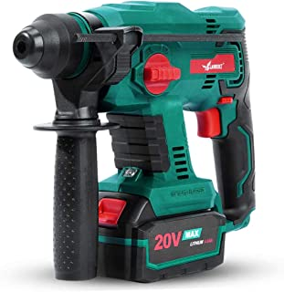 Brushless Cordless Rotary Hammer,LANNERET 20V SDS Plus Rotary Hammer Drill,4 Modes Selector,Variable Speed,Adjustable Handle,4.0Ah Li-ion Battery and Fast Charger Included