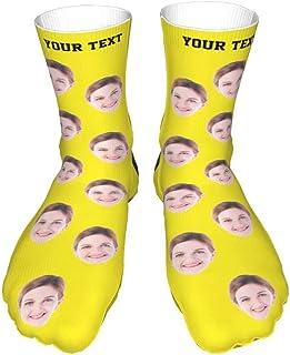 Huameng, Calcetines faciales personalizados Calcetines personalizados con nombre impreso con foto Calcetines divertidos con caras para hombres y mujeres Calcetines Nolvelty Regalo 16