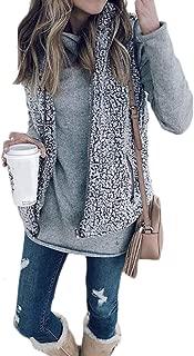 Women Zip up Faux Fur Fleece Shearling Sherpa Vest Coat Winter Warm Jacket