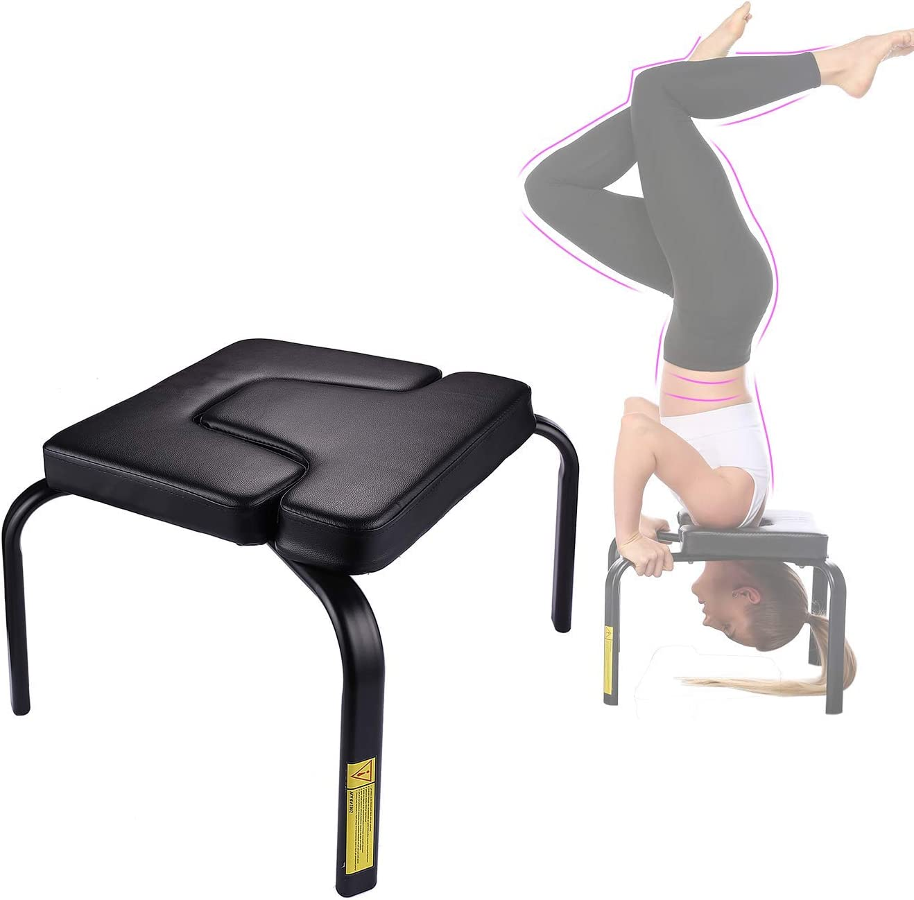 TEXXIS Headstand Bench Stand Yoga Auxiliary Chair Gym for Max 89% OFF Omaha Mall Family