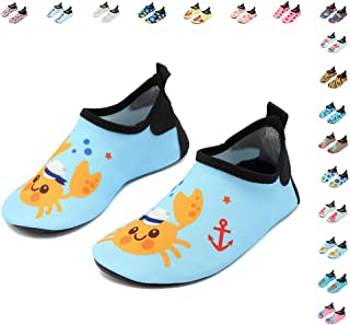 CIOR Fantiny Kids Water Shoes Boys Girls Swim Shoes Quick-Dry Barefoot Aqua Shoes Socks for Beach Pool Surfing Yoga