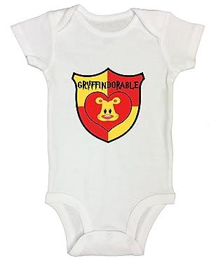 "Funny Threadz Kids Funny Kids Harry Potter Onesie T-Shirt ""Gryffindorable"" Bodysuit"