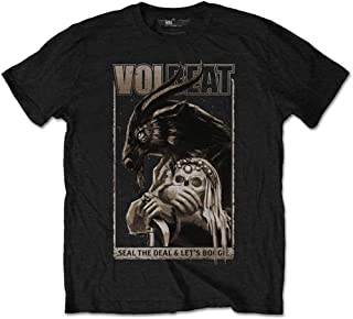 Volbeat Men's Boogie Goat Slim Fit T-Shirt Black