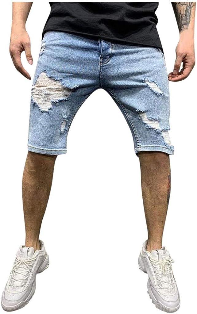 Shorts for Men Zipper Pocket Denim Short Pants Cotton Multi-Pocket Overalls CasualShorts Summer Loose SportShorts