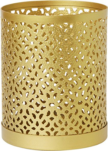Duni Duni Kerzenhalter aus Metall für Maxi-Teelichte oder LED Bliss gold 100 x 80 mm 1 Stück