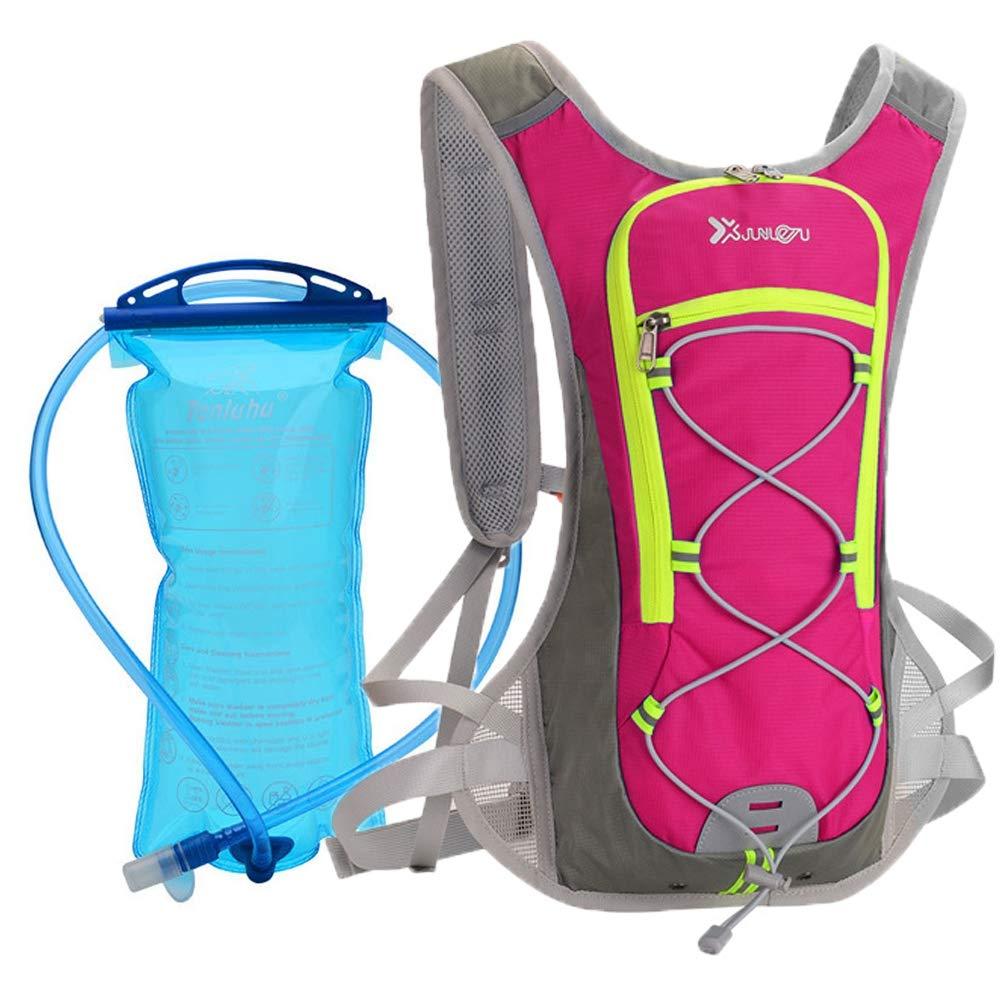 CYCPACK Hidratación Ciclismo Mochila con Agua de la vejiga al Aire Libre Que va de excursión Correr Mochila Hombres Mujeres Impermeable y Transpirable Mochila hidratación MTB Red Pack: Amazon.es: Hogar