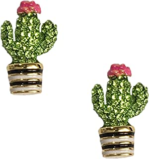 Kate Spade Pave Cacti Cactus Studs Earrings, Green Multi